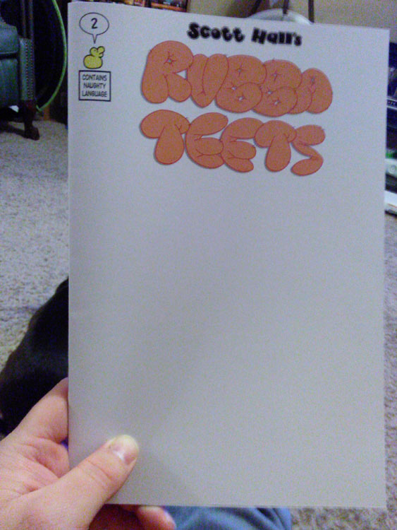sketch cover, blank, rubba teets #2